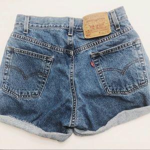 Vintage Levi's 550 jean shorts